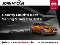 ORDER YOURS AT JOHN MCCABE NISSAN TODAY STARTING FROM 18,795 - SCRAPPAGE OF UP TO 3,500